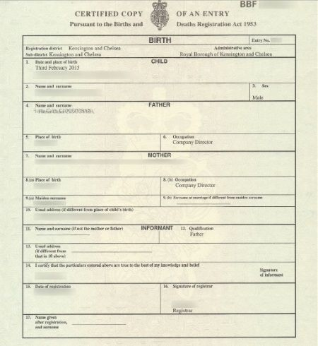 Pin On Certificate Templates intended for New Birth Certificate Template Uk