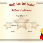 Pin On Certificates Intended For Fresh Weight Loss Certificate Template Free