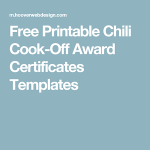 Pin On Chili Cookoff inside Chili Cook Off Award Certificate Template Free