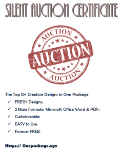 Pin On Donation Certificate Template Free Ideas in Silent Auction Certificate Template 10 Designs 2019