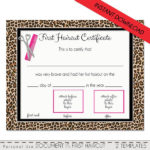 Pin On Etsy Shop – Digital Designs Within New First Haircut Certificate Printable Free 9 Designs