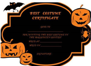 Pin On Family Halloween Party Ideas pertaining to Best Halloween Costume Certificate Template