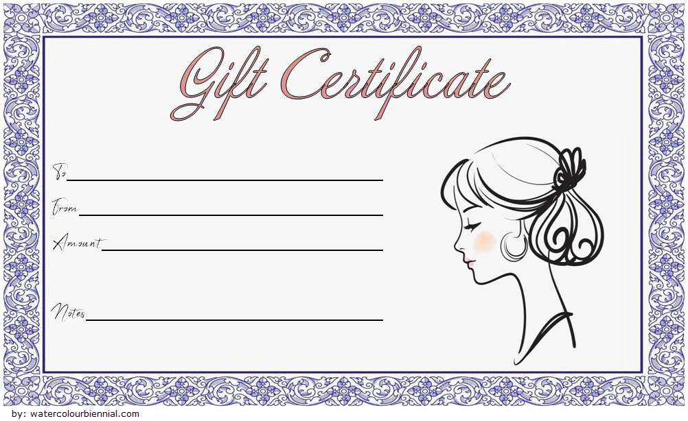 Pin On Fd throughout New Salon Gift Certificate Template