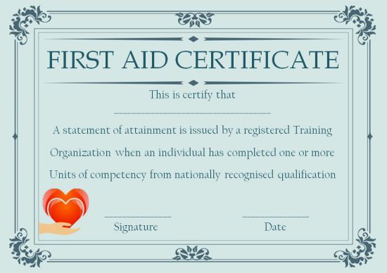 Pin On First-Aid Certificate intended for Best First Aid Certificate Template Free