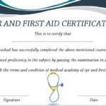 Pin On First Aid Regarding First Aid Certificate Template Free