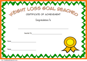 Pin On Fitness Gift Certificate Ideas Intended For Weight Loss Certificate Template Free