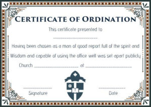 Pin On Free Download pertaining to Ordination Certificate Templates