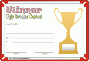 Pin On Free Ugly Christmas Sweater Certificate Template in Free Ugly Christmas Sweater Certificate Template