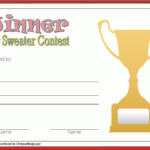 Pin On Free Ugly Christmas Sweater Certificate Template Pertaining To Fresh Happy New Year Certificate Template Free 2019 Ideas