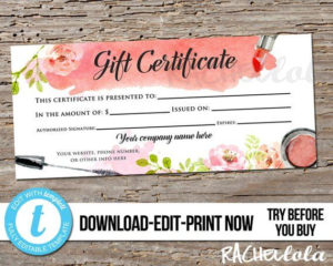 Pin On Gift Certificate Downloads with Salon Gift Certificate
