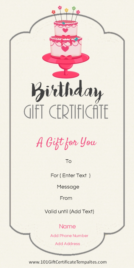 Pin On Gift Ideas throughout Unique Birthday Gift Certificate Template Free 7 Ideas