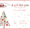 Pin On Gifts intended for Quality Christmas Gift Templates Free Typable