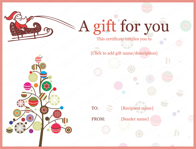 Pin On Gifts within Free Christmas Gift Certificate Templates