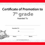 Pin On Grade Book Regarding Free Printable Certificate Of Promotion 12 Designs