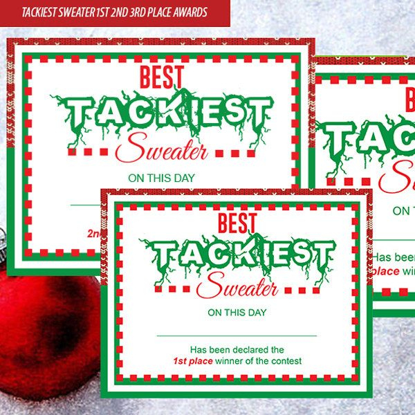 Pin On Holiday Stuff inside Free Ugly Christmas Sweater Certificate Template