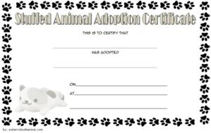 Pin On Jaxon Birthday Ideas regarding Stuffed Animal Adoption Certificate Editable Templates