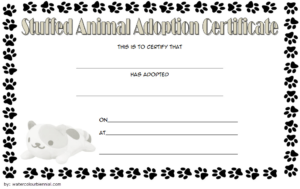 Pin On Jaxon Birthday Ideas with regard to Stuffed Animal Birth Certificate Template 7 Ideas