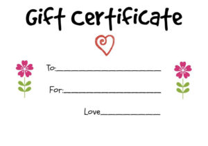 Pin On Kids Homemade Gifts For Grandparents With Regard To Kids Gift Certificate Template