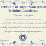 Pin On Libros Intended For New Anger Management Certificate Template Free