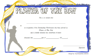 Pin On Malir Lions in Player Of The Day Certificate Template