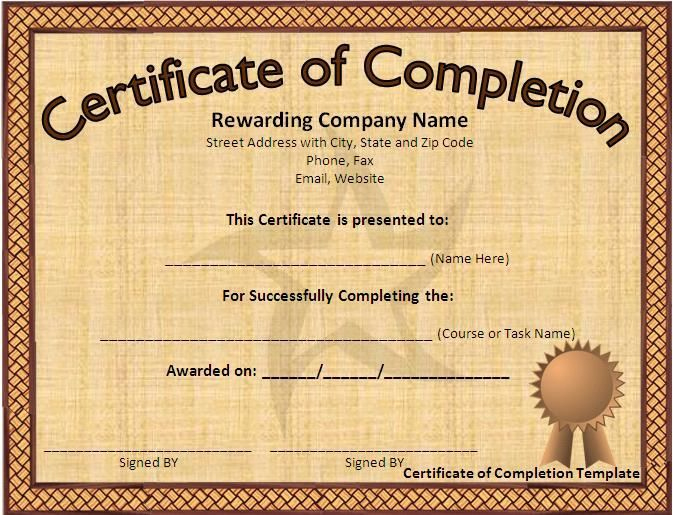 Pin On My Saves inside Microsoft Office Certificate Templates Free