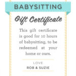 Pin On Nanny for New Babysitting Gift Certificate Template