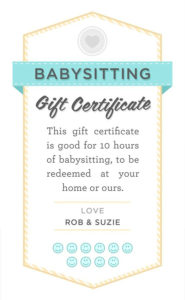 Pin On Nanny inside Quality Free Printable Babysitting Gift Certificate