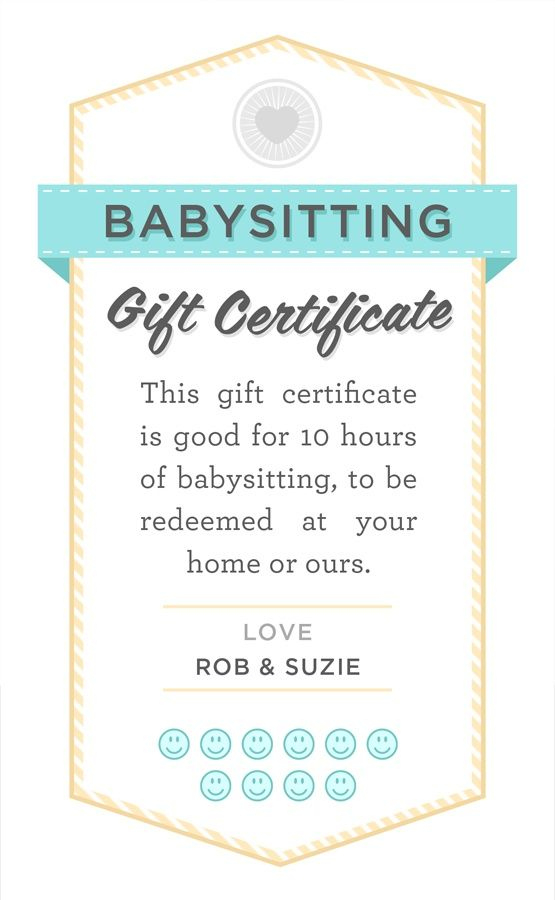Pin On Nanny throughout New Babysitting Certificate Template 8 Ideas
