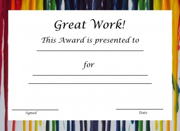 Pin On Paper Crafts ✫¸.•*´¯) (¯`*•.¸*°•♥ in Free Printable Certificate Templates For Kids