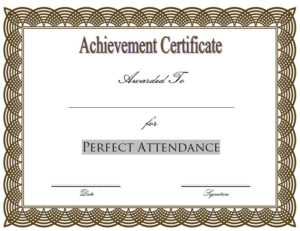 Pin On Perfect Attendance Certificate Ideas for New Student Council Certificate Template 8 Ideas Free