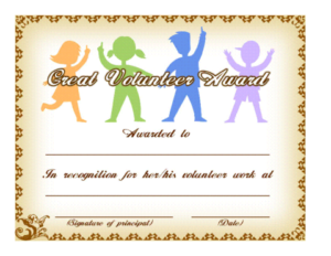 Pin On Philanthropic Motivation intended for Quality Volunteer Award Certificate Template