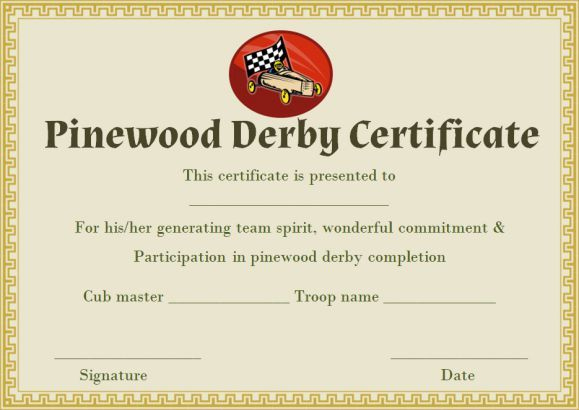 Pin On Pinewood Derby Certificate Template with regard to Quality Pinewood Derby Certificate Template