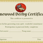 Pin On Pinewood Derby Certificate Template Within Unique Pinewood Derby Certificate Template