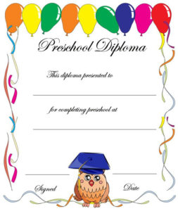 Pin On Places To Visit for Fresh Certificate For Pre K Graduation Template