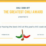 Pin On Primary in Unique Chili Cook Off Certificate Template