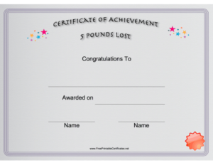 Pin On Printables Intended For Fresh Weight Loss Certificate Template Free