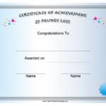 Pin On Printables regarding Unique Weight Loss Certificate Template Free 8 Ideas