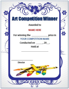 Pin On Save Earth Posters regarding Best Drawing Competition Certificate Template 7 Designs