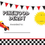 Pin On Scouts Throughout Pinewood Derby Certificate Template