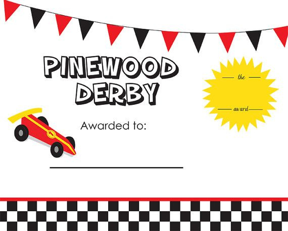 Pin On Scouts with Pinewood Derby Certificate Template