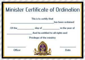 Pin On Spiritual Art intended for Ordination Certificate Template
