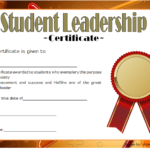 Pin On Student Leadership Certificates Intended For New Student Leadership Certificate Template