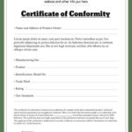 Pin On Template In New Certificate Of Conformance Template