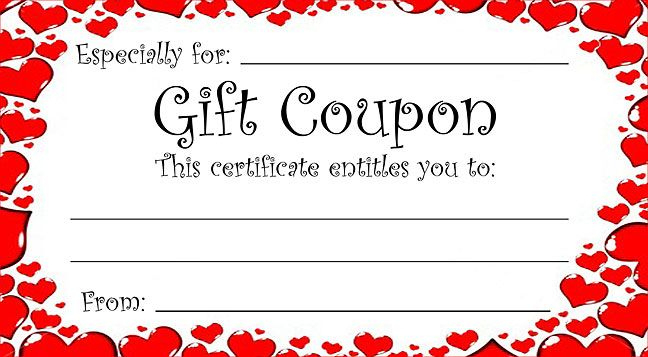 Pin On Valentine'S Day Pertaining To New Valentine Gift Certificate Template