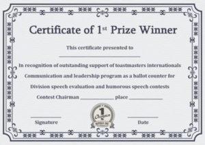 Pin On Winner Certificate Template inside 10 Science Fair Winner Certificate Template Ideas