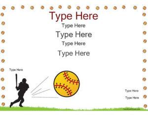 Pincertificate Street On Softball | Certificate within Fresh Printable Softball Certificate Templates