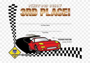Pinewood Derby Award Certificate Template Just B Cause – 1St with regard to Quality Pinewood Derby Certificate Template