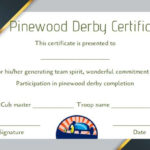 Pinewood Derby Certificate Template: 9 Certificates (All Inside Quality Pinewood Derby Certificate Template