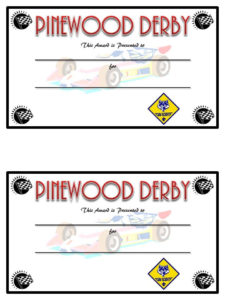 Pinewood Derby Competetion Fastest Car Prizes | Diy Trophies throughout Unique Pinewood Derby Certificate Template