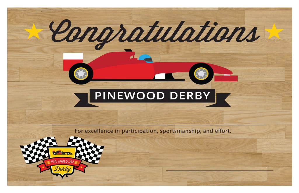 Pinewood Derby Printables – The Gospel Home throughout Pinewood Derby Certificate Template
